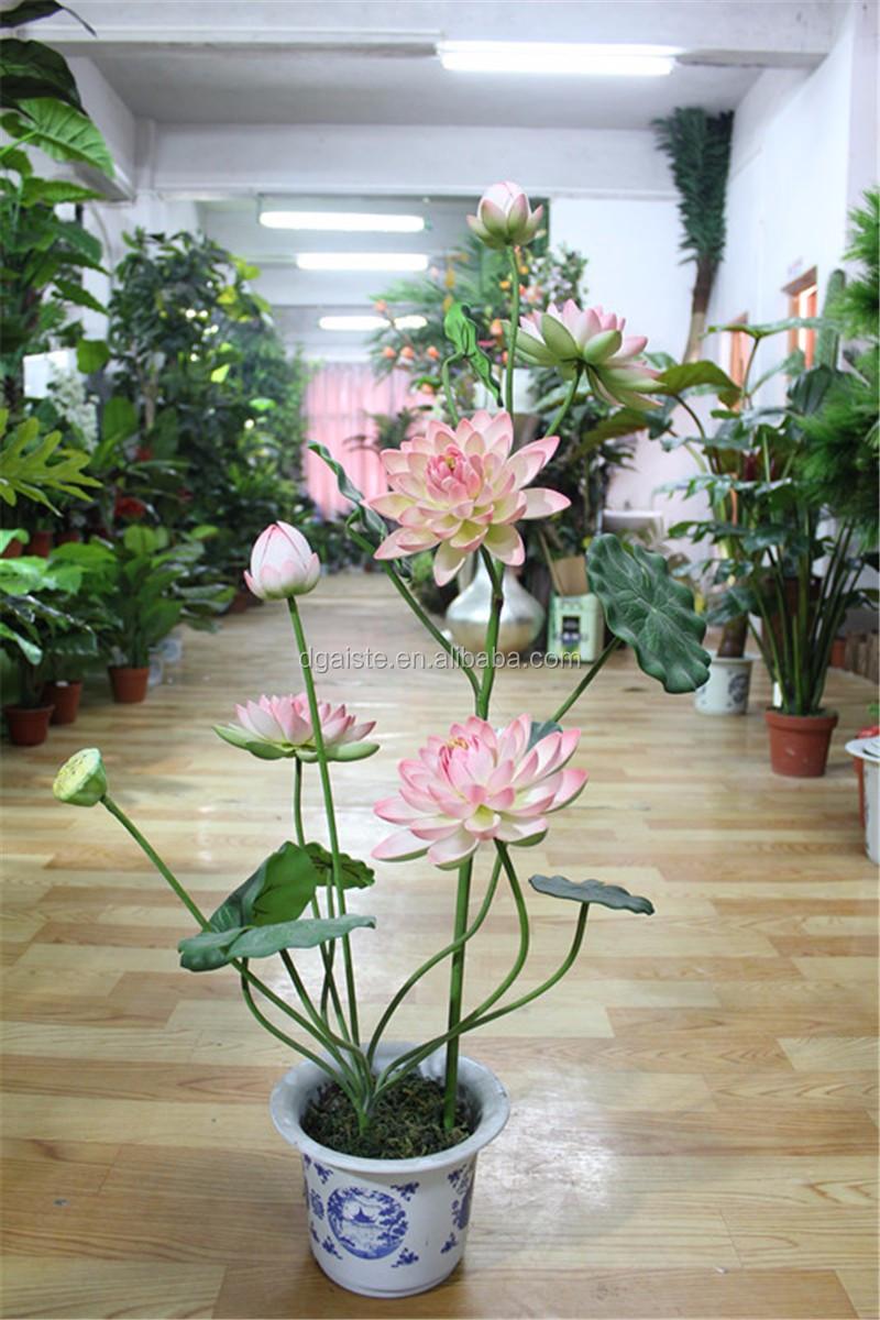 Jardin d coratif faux multiples branches lotus en pot for Plante decorative exterieure
