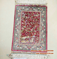 Small size 0.8x1.25ft high value for collection silk carpet
