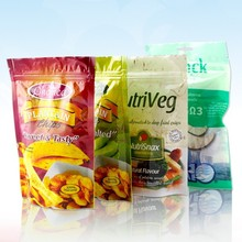 plastic zipper stand up foil bag for various food