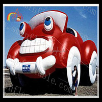 Hot outdoor advertising inflatable car cartoon model for sale
