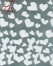 Hot White Small Loving Heart Pattern Polyester Fabric Lace for Dress