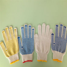 PVC dots gloves security and protection glove from linyi