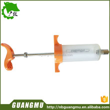 large capacity syringe used for veterinarians on amilals for the prevention