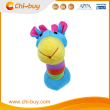 Chi-buy Animal Shapess Plush Squeaky Dog Toy , 2015 New Design For Lovely Pet