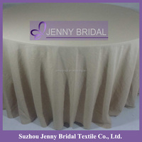 TC109A Beige round cheap polyester tablecloths