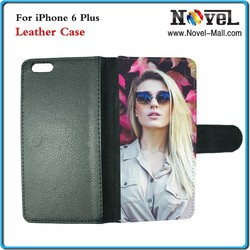 Design custom subliamtion for pu leather case for iphone 6+