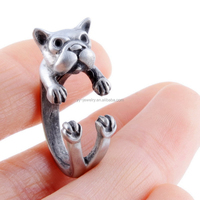 Hot Sale zinc alloy Adjustable dog puppy Rings