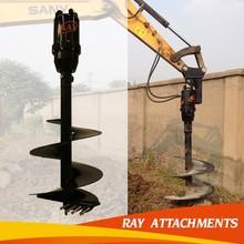 fence post auger power auger excavator grapple attachments