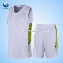 Reversible navy blue pure white black yellow red basketball t shirt wholesale