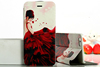 Pink Color Flower Series PU Leather Case for Iphone 6