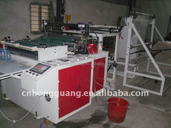 plastic air bubble film bag making machine with folder