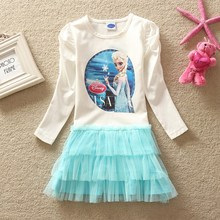 2015 New style fashion dress for sweet Girls LD0538 white