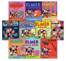 Elmer Collection 10 books Set by David Mckee Elmer Elmer and Wilbur, Elmer Again