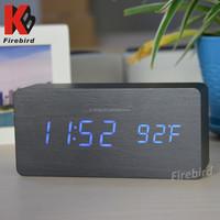 Customized logo wholesale blue LED light digital clock best gift for business partner