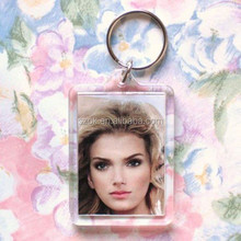 beautiful girl modern design acrylic photo frame key chains