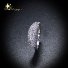 Hot new deisgn ring plating platinum with cz, wholesale brass rings for women, factory price of rings for Brazil XYR101118