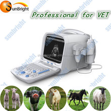 PC based animals medical ultrasonic machine /portable veterinary ultrasound with two probe connectors