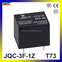 PCB type miniature relay JQC-3F 7A 12VDC T73 power relay