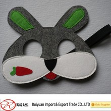 High postitive feedback !!!Novelty Cute 17*15cm rabbit felt mask with 30 cm tail for kids Easter gift