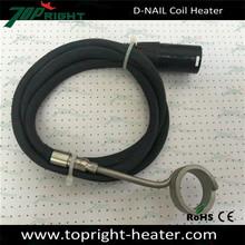 Hot sale black enail coil heater with 5pin xlr plug electric 120v 16mm dnail enail coil heater