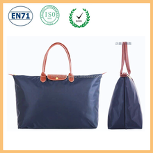Factory directly sale foldable 600D PVC tote bag reusable family packing bag