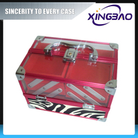 Aluminum style showcase cosmetic case,best cheapest cosmetic case with flannelette,acrylic tools cosmetic case