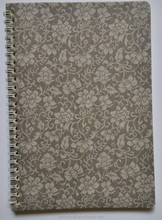 wholesale creative design paper cover spiral notebook a5 with fabric appearance