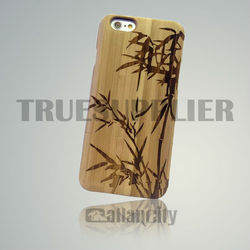 fancy mobile phone cover wood for iphone 6 woden case