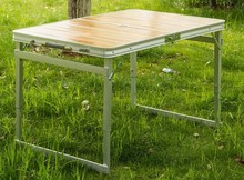 Hot popular outdoor furniture bamboo table set 4 seats
