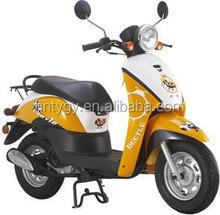 Yellow 49cc 4 stroke mini gas scooter