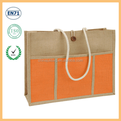 Yiwu factory directly export all kinds of jute shopping tote bag