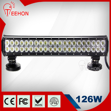 Industry leading 126W Led Work Light CE,ROHS certificated one year warranty 4-50inch high-end tuning light bicycle led light bar