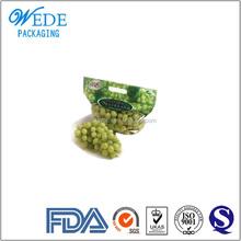 Customized colorful printing ziplock clear fresh ziplock grape bag
