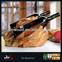 Natural Solid Antique Wooden Wine Racks/Root Carving Wooden Wine Holder/Wooden Wine Bottle Holder