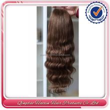 Qingdao high quality body wave virgin brazilian hair half wig