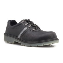 2015 Mens Black Leather Steel Toe Industrial Safety Shoes INDIA