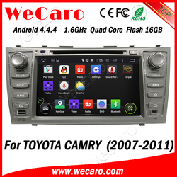 "Wecaro Android 4.4.4 car multimedia system 2 din 8"" for toyota camry car dvd gps navigation 6GB Flash A9 cpu 2007 - 2011"