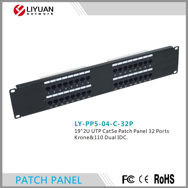 LY-PP5-04-C-32P 2U 32 Puertos Cat5E UTP Systimax Tipo Patch Panel
