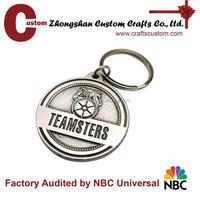 Custom metal compass keychain