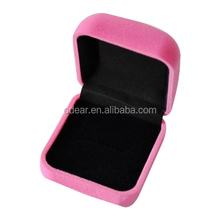 beautiful pink plastic sweet packaging ring box for lover