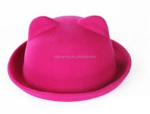 Top quality cheap fancy wool felt children baby fedora hat
