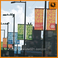 custom sublimation printed farbic polyester flag street banner