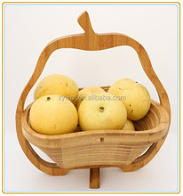 Customized Design Bamboo Wire Basket to Holding Fruit