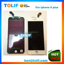 Mobile Phone Display Spare Parts for iPhone 6 Plus LCD Screen with Digitizer Assembly White