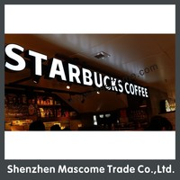 custom made led signs, LED brand name acrylic signs for coffee shop