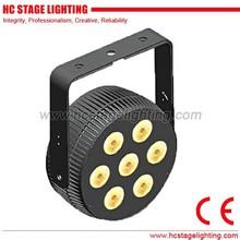 lights club 7*4in1/5in1/6in1 die-cast aluminium Mini DMX 512 led flat par can