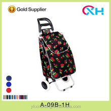 Fashion cherry patten shopping cart/portable shopping trolley for housewife