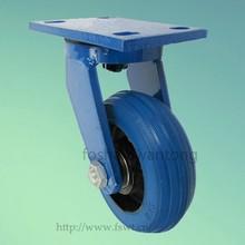 PP Core Blue Rubber Wheel Heavy Duty 125mm Industrial Caster