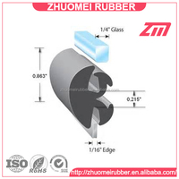 """1/4"""" glass x 1/16"""" edge glazing rubber extrusions"""