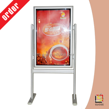 waterproof outdoor picture frames display stand double side galvanized light box